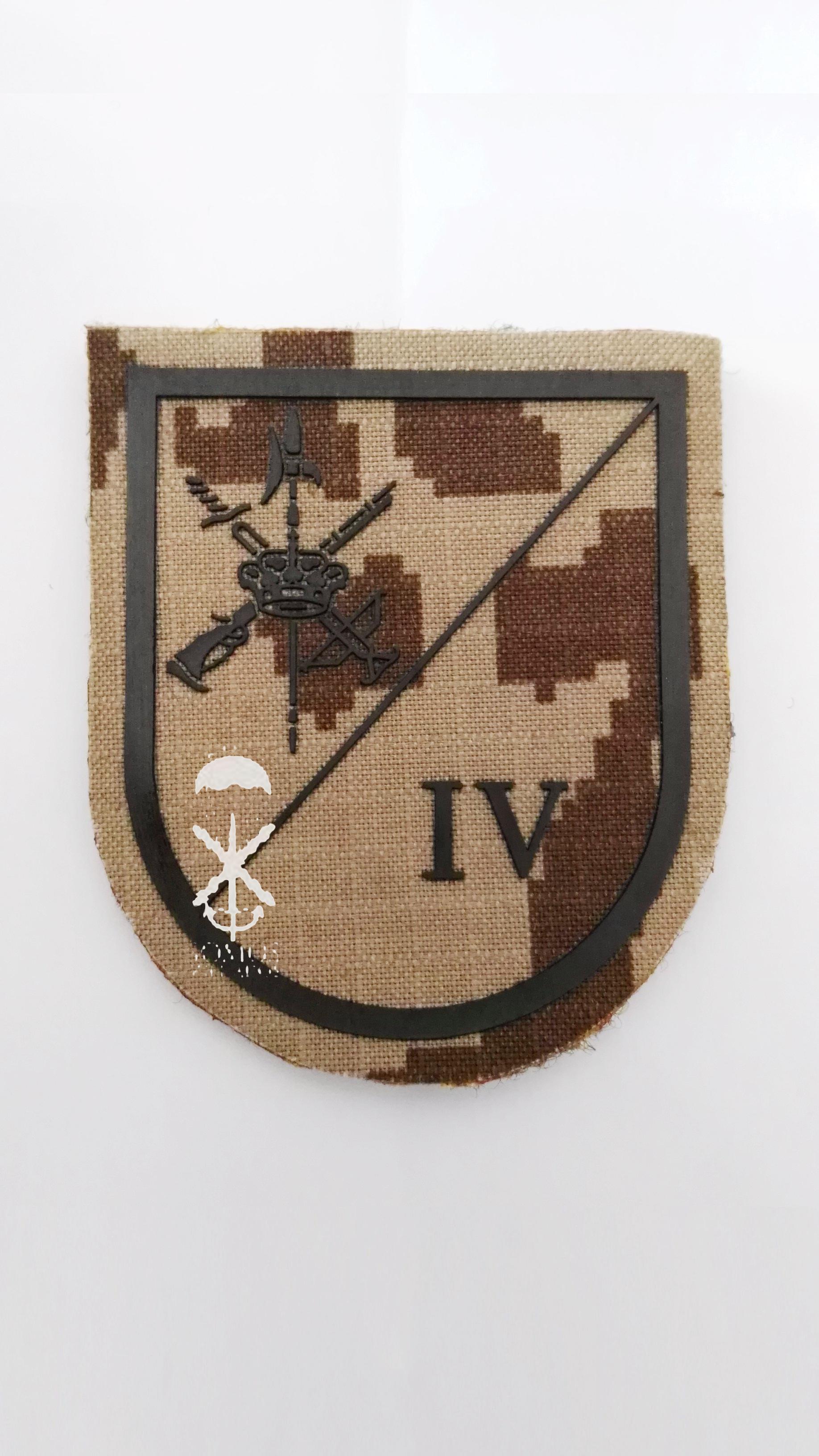 PARCHE DE COMBATE IVª BANDERA DE LA LEGIÓN C/ VELCRO   Somos Soldados